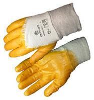 Перчатки Нитрил х/б + латекс оранж 9 размер (уп.12 шт)