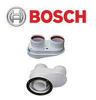 BOSCH AZB 922. Адаптер для подключения раздельных дымоходов Ø80/80 к котлам с выходом Ø80/125