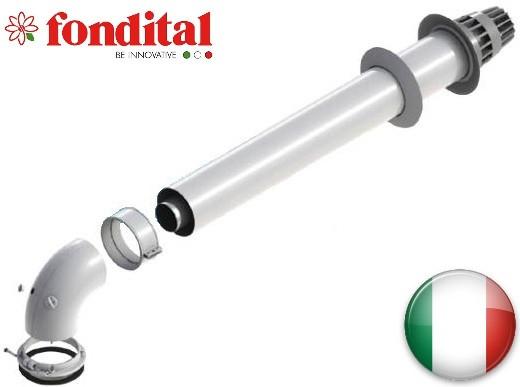 Труба коаксиальная 100/60мм длиной 0,5м для котлов TFS