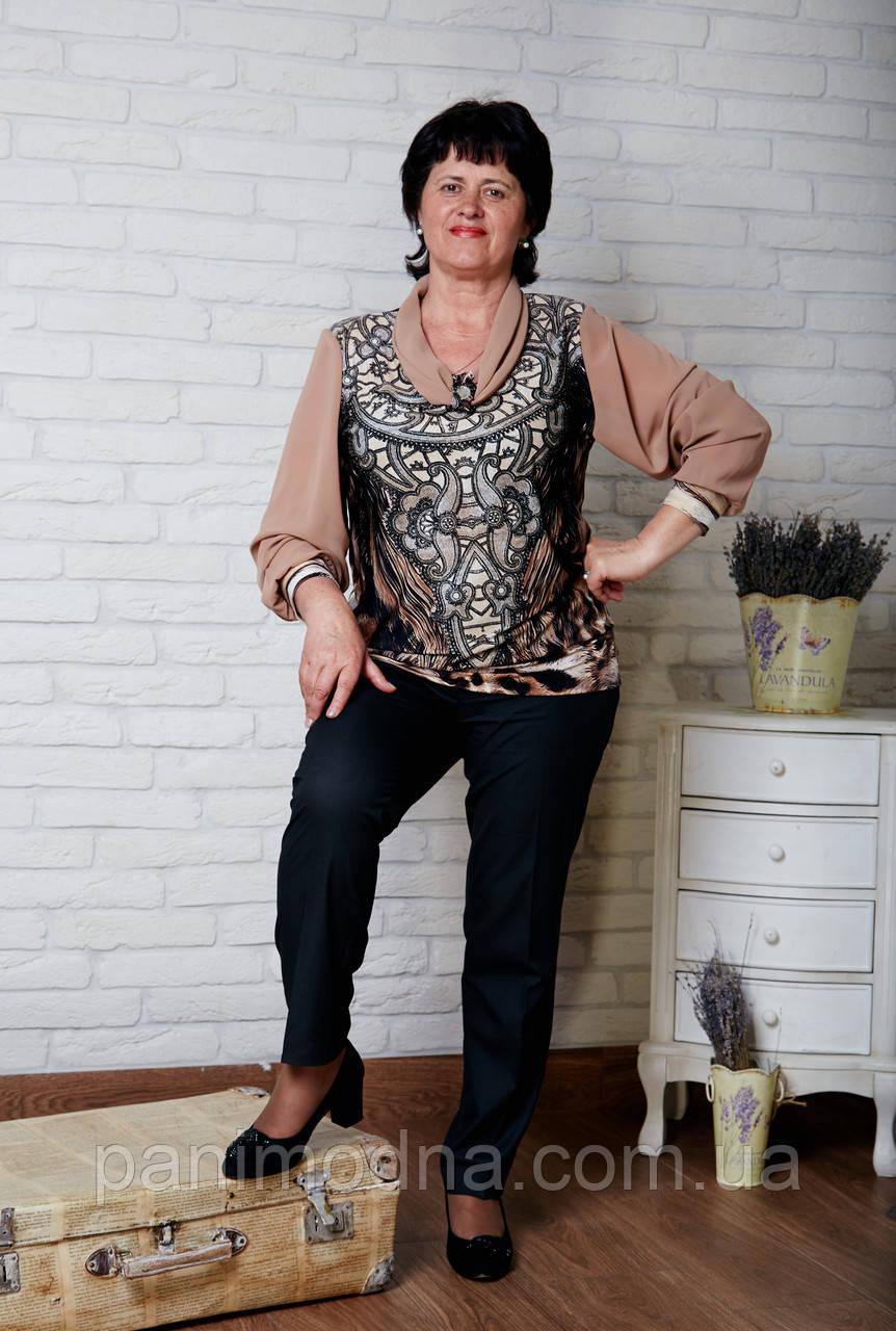 "Блуза женская  из шифона ""Арина"". От производителя - швейная фабрика."