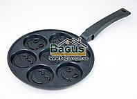 Сковорода для оладьев (d-24см) с антипригарным покрытием Биол (СО-24П)