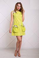 Оригинальное Платье Трансформер со Съемными Карманами Зеленое XS-XL
