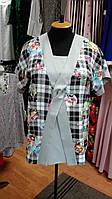Блуза серая с переплетом