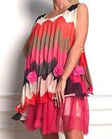 Шифоновое легкое летнее платье (812 br)
