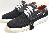 Летние лёгкие синие кроссовки Lacoste