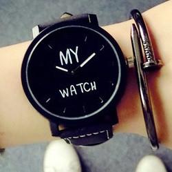 Кварцевые часы MY WATCH (black) - гарантия 6 месяцев