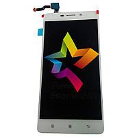 """Дисплей для мобильного телефона Lenovo A5500 CDMA+GSM S8 Play 5.5"""", белый, с тачскрином"""