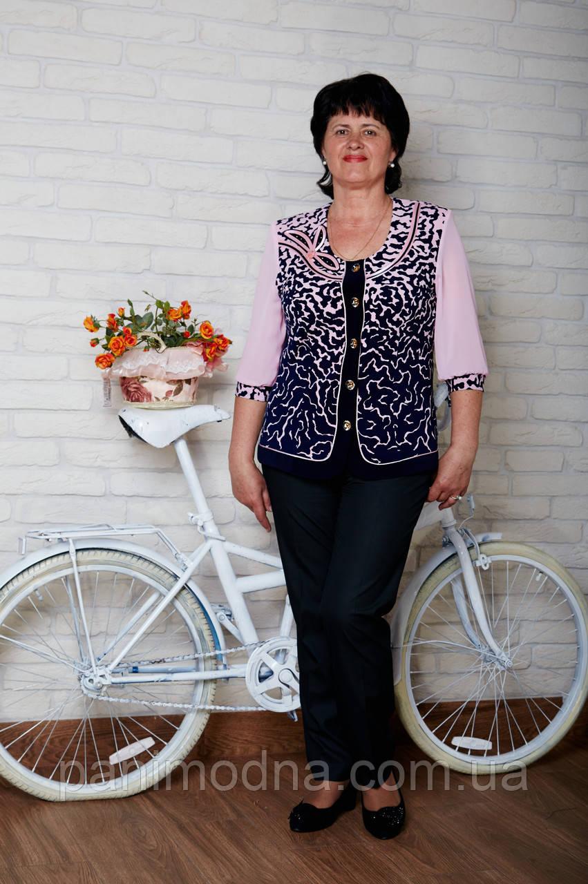 Блузочка женская светлая из шифона. От производителя - швейная фабрика.