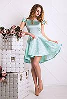 Романтичное Платье на Выпускной с Пышной Юбкой Мятное XS-L