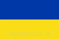 Украинский флаг на полиэстре, 120 х 80 см