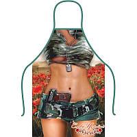 Фартух сувенірний, дівчина у військовій формі