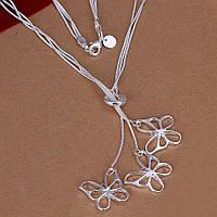 Колье ювелирная бижутерия покрытие серебро 339
