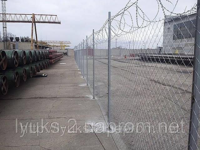 Забор из сетки Рабица, 2м