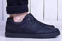 Кеды мужские низкие Nike sb all black (реплика), фото 1
