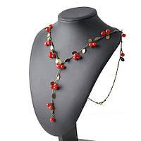 Ожерелье колье ювелирная бижутерия бронза 467-а