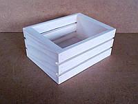 Ящик деревянный под цветы (кашпо), белый, 18х13,5х8 см, фото 1