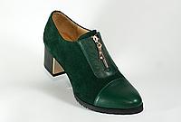 Туфли на устойчивом каблуке. Натуральная кожа 1039