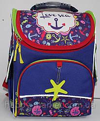 Ранец-Рюкзак школьный каркасный ортопедический Kite Love sea GO17-5001S-2