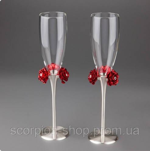 """Свадебные бокалы """"Розы"""""""