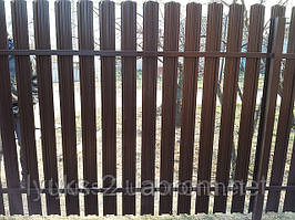 Забор из штакетника двухсторонний
