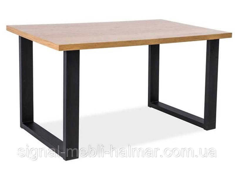 Стол обеденный деревянный Umberto 180x90 цвет дуб/черный (SIGNAL)