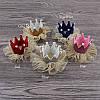 Корона СЬЮЗИ на заколке розовая детская для волос Тиара Виктория, фото 3