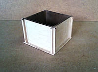 Ящик декоративный под цветы (кашпо), некрашенный, 14х14х10 см