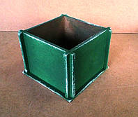 Ящик декоративный под цветы (кашпо), зеленый, 14х14х10 см