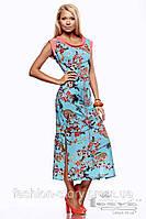 """Легкое летнее платье """"Оранж"""" есть большие размеры, р.42-60 60"""