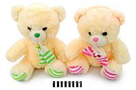 Мягкая игрушка Мишка с шарфом музыкальный 3270\40 сидячий 40 см