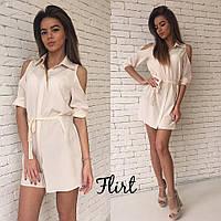Летнее платье рубашка, белое