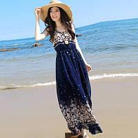 Женское летнее платье с цветами РМ7045