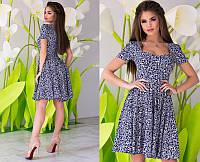 Красивое модное женское летнее молодежное платье с декольте  + цвета