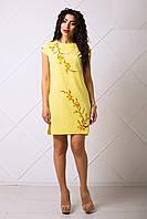 Желтое Летнее Платьице с Красивым Узором XS-XL