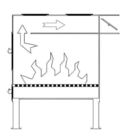 Печь буржуйка батарея схема