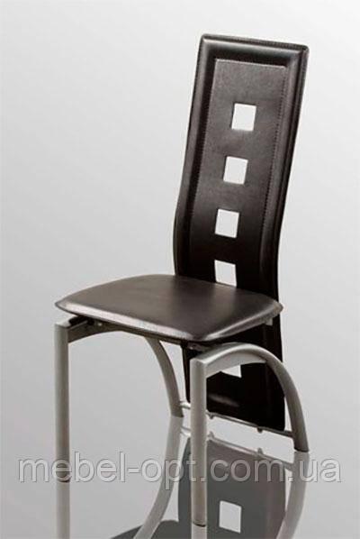 Стул С-349 черный  кожзам, металлический каркас. Распродажа недорогих стульев на дачу, съемную квартиру.