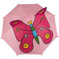 Зонт детский 3D 8358 pink butterfly