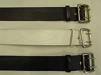 Ремни партупейные кожаные(черный, коричневый, белый)