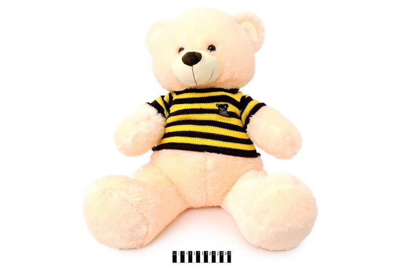 Мягкая игрушка Мишка в вязаной кофте музыкальный 1335\60 сидячий 60 см