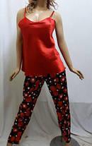 Комплект тройка атласный, штаны майка и пиджак, для дома и сна, Харьков, фото 2