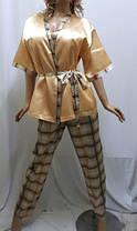 Комплект тройка атласный, штаны майка и пиджак, для дома и сна, Харьков, фото 3