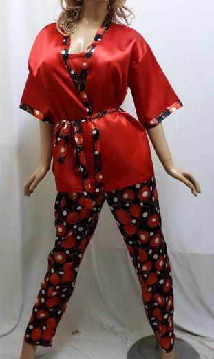 Комплект тройка атласный, штаны майка и пиджак, для дома и сна, Харьков