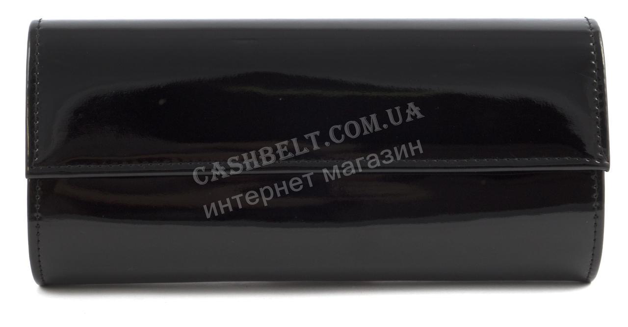 Стильный элитный лаковый небольшой женский клатч для выпускного art. 7788 черный
