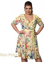 Летнее платье-халат 50,52,54,56