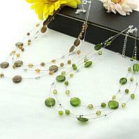 Ожерелье ювелирная бижутерия покрытие серебро 3519