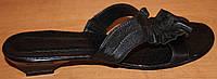 Шлепанцы женские кожаные черные, летние шлепанцы от производителя модель ВЛ62