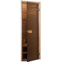 Стеклянные двери для сауны и бани SAUNAX Classic - Матовая Бронза - 70х190, 70х200, 80х200 – Универс.