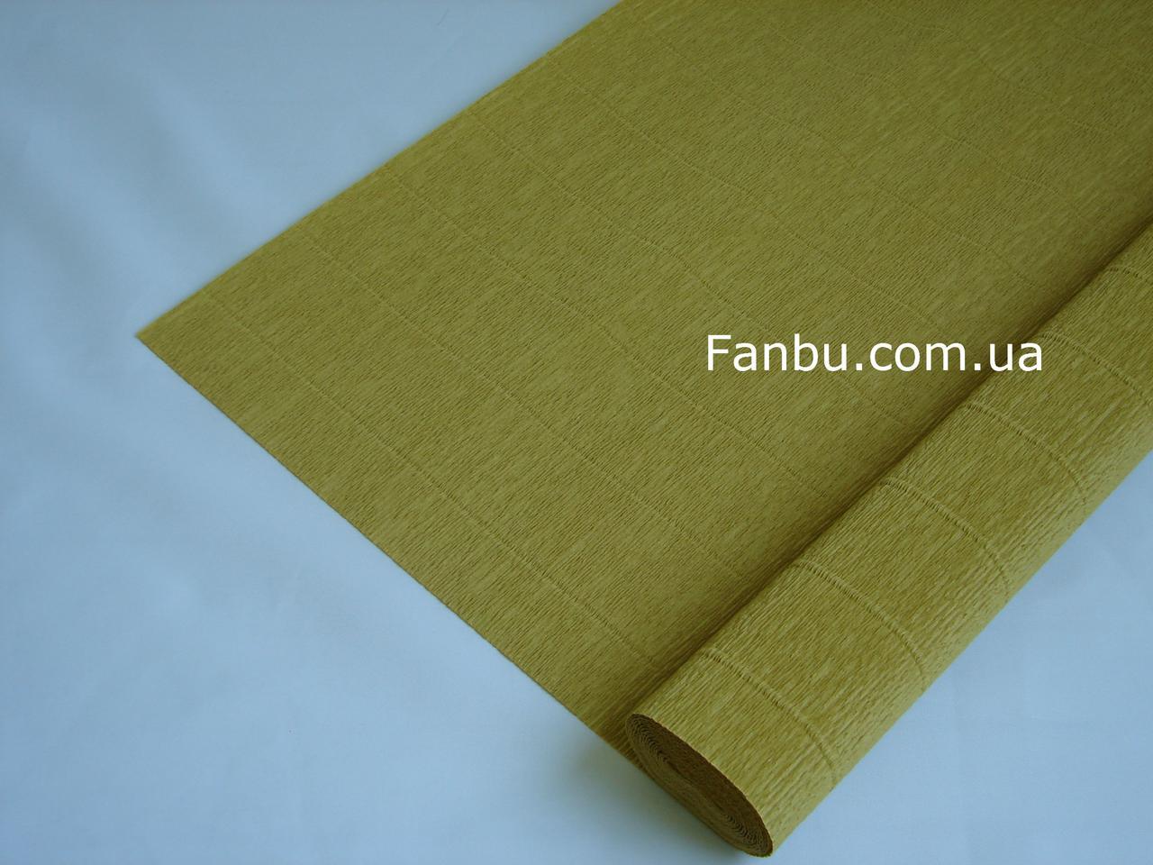 Креп бумага горчичная №579,производство Италия, фото 1