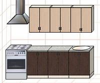 """Кухня """"Оптима"""" длина 1,8 м - вариант №1"""