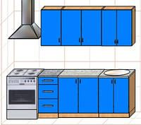"""Кухня """"Оптима"""" длина 1,8 м - вариант №2"""